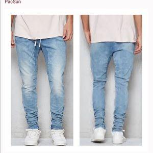 PacSun Drop Skinny Denim Jogger Pants Medium